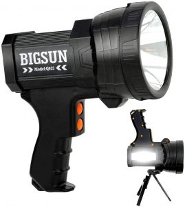 BIGSUN Q953 Rechargeable LED Spotlight, IPX4 Waterproof