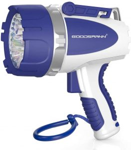 GOODSMANN Rechargeable Spotlight with USB Adapter