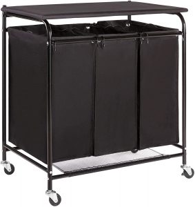 HollyHOME Laundry Sorter Cart with Foldable