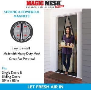 Magic Mesh Deluxe- Black- Hands Free Magnetic Screen