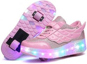 Nsasy Kids Roller Shoes with LED