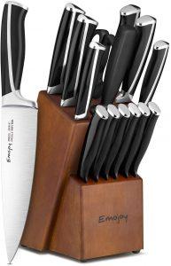 Emojoy Knife Set, 15-Piece Kitchen Knife Set